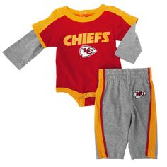 caa72ee84c NFL Team Apparel Infant Boy Kansas City Chiefs Bodysuit and Pant Set
