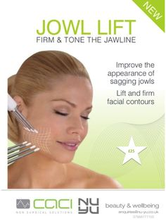 improve the appearance of sagging neck and jowls with this fabulous NEW treatment!