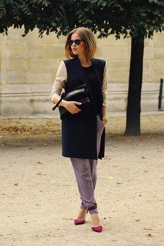 Shop this look on Kaleidoscope (coat, pants, pumps)  http://kalei.do/WNSZWsAh0HwI3fgy