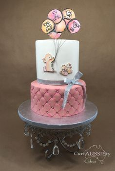 Cute bunny baby shower cake by curiAUSSIEty custom cakes