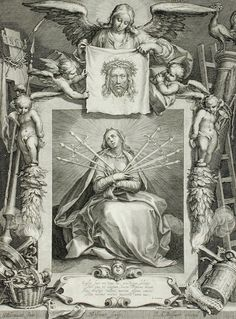 The Virgin of Sorrows, by Schelte Adams Bolswert; the Virgin's seven sorrows are symbolised by seven swords. (LACMA)
