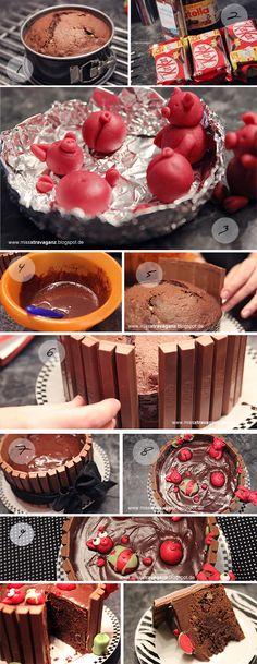 [Rezept] Schweinchen im Schokoladen-Matsch-Bad-Kuchen – Miss von Xtravaganz