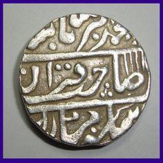 Kotah State Silver One Rupee Coin - Nandgaon Mint - Muhammad Akbar II