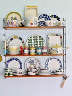 Awesome Rorstrand kitchen collection! Arom, Picknick, Granada, Calypso - with other Scandinavian ceramics. Troedelhaus blog.