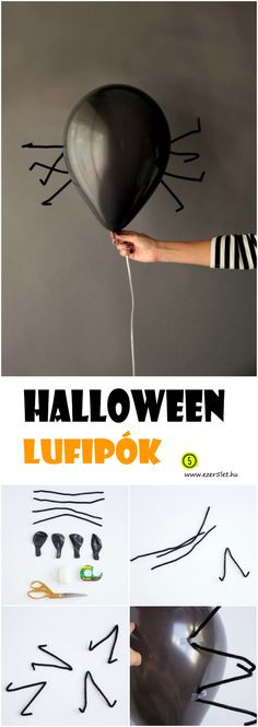 pók-léggömb-halloween #halloween
