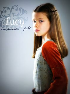 As Queen Lucy of Narnia in the second movie. Lucy Pevensie, Susan Pevensie, Peter Pevensie, Narnia Movies, Narnia 3, Cair Paravel, Star Rain, Georgie Henley, Prince Caspian