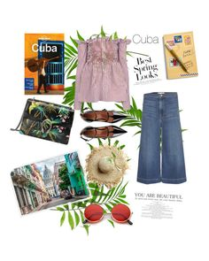 """""""Cuban Paradise"""" by stylesmanda on Polyvore featuring Vera Bradley, Gucci, Lonely Planet, Victoria, Victoria Beckham, Frame, RED Valentino, ZeroUV and H&M"""