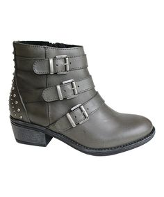 Eric Michael by Laurevan Gray Sparta Leather Ankle Boot | zulily