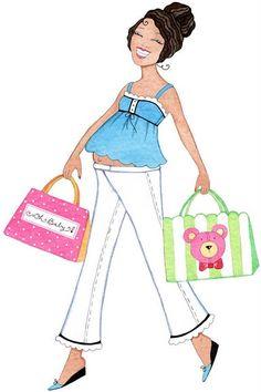 Embarazadas para baby shower - Imagenes y dibujos para imprimirTodo en imagenes…
