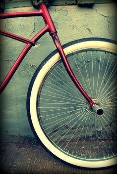 Vintage Bicycle Photograph Fine Art Print 8x10 via Etsy.