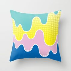 LAFFY TAFFY Throw Pillow by J3 Productions