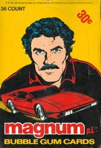 Trading Card Collector's Guide to TV Shows 1980s Tv Shows, Old Tv Shows, Detective, Magnum Pi, Tom Selleck, Collectible Cards, Collector Cards, Classic Tv, Bubble Gum