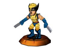 Marvel Comics - Chibi Wolverine Free Papercraft Download - http://www.papercraftsquare.com/marvel-comics-chibi-wolverine-free-papercraft-download-2.html#Chibi, #MarvelComics, #Wolverine