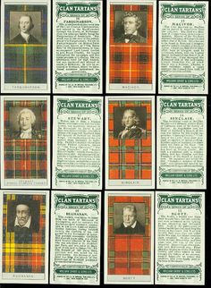 Scottish Clan Tartans - Glenfiddich Card set - Scott is on bottom right.