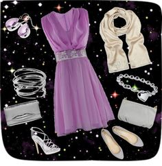 """starry night"" by viki-olah on Polyvore"