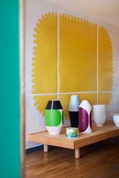 Pierre Charpin at Apartment in la Cité Radieuse by Le Corbusier Home Interior, Interior Styling, Interior Architecture, Interior And Exterior, Interior Design, Le Corbusier Architecture, Interior Inspiration, Design Inspiration, House Colors