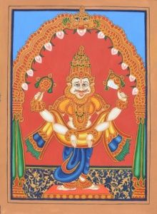 Narasimha Avatara traditional art by Radhika Ulluru | ArtZolo.com