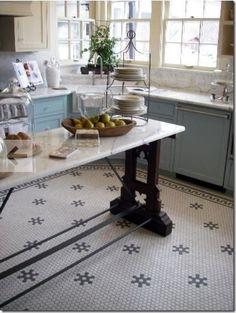 kitchen floor tile from American Restoration Tile.