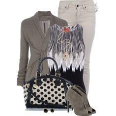Striped top, created by pinkroseten on Polyvore