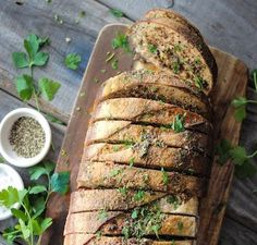 Moreish recipe for the perfect braai side - buttery Garlic Bread with fine Biltong and Fresh Herbs. Herb Bread, Garlic Bread, Healthy Family Meals, Healthy Snacks, Biltong, Outdoor Food, Bread And Pastries, Home Food, Kitchen Recipes
