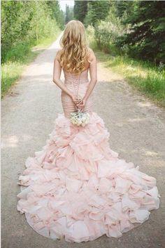 A Pink Wedding Blush Dressesmermaid