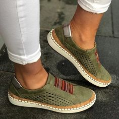 New Ladies Webbing Elastic Flats Pumps Women Casual Sneakers Trainers Shoes