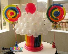 lollipop and cupcake balloon