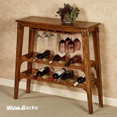 Vintage Wine Simply grab a bottle and a glass from the Vernazza Wine Rack Table and enjoy your favorite vintage. Wooden furnishing has a vintage oak finish. Decor, Wine Rack Table, Diy Wine Rack, Diy Wine, Home Decor, Wooden, Rack, Wine Table, Wine Holder