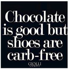 Shoes are carb free