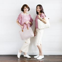 Shoulder Curve Bags Hand Woven and Botanical dyed Cotton Pink Color-www.tanbagshop.com