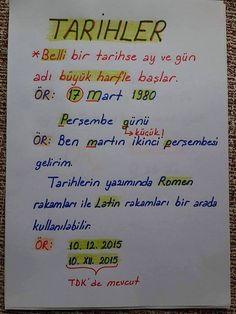 Writing dates - dilbilgisi - Turkish Language, Education And Training, George Clooney, Study Notes, Study Motivation, Foreign Languages, Study Tips, Mathematics, Literature
