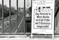 BERLIN 1980, West-Berliner-S-Bahn - die S-Bahn war im Besitz der DDR, die das finanziell weidlich ausnutzte. 1980 liess West-Berlin sich dann nicht mehr erpressen, was die Schliessung einiger Linien zur Folge hatte.