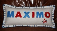 Gorgeous Personalised Boys Cushion. Click below for loads more.........