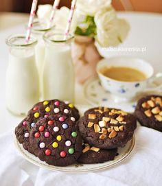 Proste MEGA CZEKOLADOWE ciastka Valentines Day Cookies, Make It Yourself, Chocolate, Baking, Eat, Breakfast, Food, Gastronomia, Morning Coffee