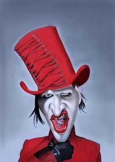 Marilyn Manson by santiago-trejo.deviantart.com  ...FOLLOW THIS BOARD FOR GREAT CARICATURES OF PEOPLE WE KNOW..I'LL BE ADDING NEW PINS DAILY..