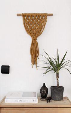 Macrame Wall Hanging on an Oak Stick. Modern от KNOTinterior