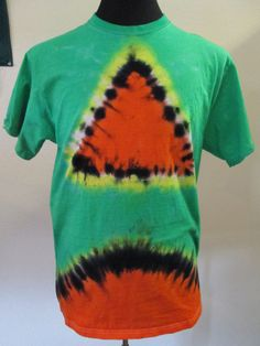 Large Adult Tie Dye Orange and Green Triangle by AlbanyTieDye, $21.00