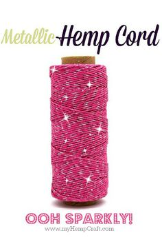 Craft twine with some sparkle...so cool!!