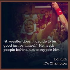 Ed Ruth NCAA Wrestling Champion from Penn State.