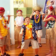 fun Hawaiian Luau party for the kids - Daughter #1 wants the limbo at her party