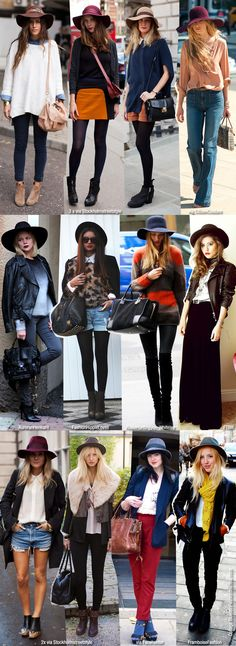 i don't know if i could rock a big hat. hmm... these photos make me want to