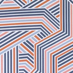 Prints Fabric - Spectrum Orange Abstract Geometric Fabric Pattern