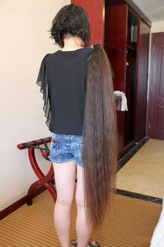 Long ponytail cut off! Long Hair Ponytail, Long Ponytails, Ponytail Hairstyles, Long Hair Cuts, Long Hair Styles, Long Cut, Super Long Hair, Beautiful Long Hair, Grow Hair
