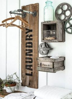 Below are the Farmhouse Laundry Room Storage Decoration Ideas. This post about Farmhouse Laundry Room Storage Decoration Ideas was posted … Interior Design Minimalist, Laundry Room Storage, Laundry Rooms, Laundry Decor, Small Laundry, Laundry Rack, Kitchen Storage, Laundry Drying, Basement Laundry