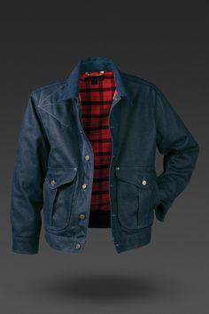 Filson Men's Belltown Waxed Denim Jacket | The Clymb