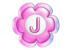 Pink Flower Alphabet | Jewels Art Creation Flower Alphabet, This Is My Story, Letter J, Pink Flowers, Free, Flower Clipart, Jewels, Bijoux, Gemstones