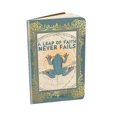 "Decorative Notebook 'Leap of Faith' - 3.5"" x 5.5"" saddle sitched notebooks with gold foil embellishments and 32 lined pages. Minimum of 6 per style #966647 $5.99  www.lambertpaint.com"