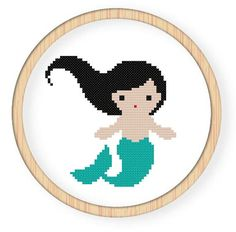 Buy 4 get 1 free ,Buy 6 get 2 free,Counted Cross stitch pattern,Cross-Stitch PDF,mermaid,zxxc0078. $4.00, via Etsy.