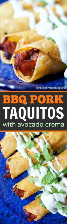 A Mexican comfort food classic gets a Texas twist — BBQ Pork Taquitos are quick, easy, and downright addictive! #ad