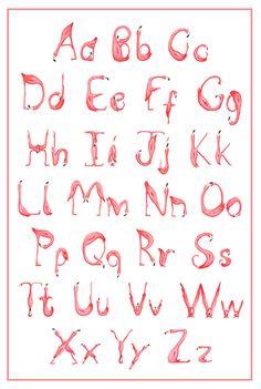 Alphabet ABC Flamingo art print wall art by AmelieCardsandPrints
